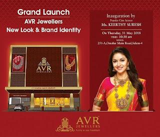 Keerthy Suresh in Saree for AVR Jewellers Launch