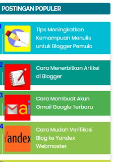 Membuat Postingan Populer di Blogger