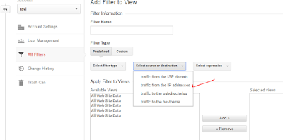 Exclude internal traffic from Google Analytics