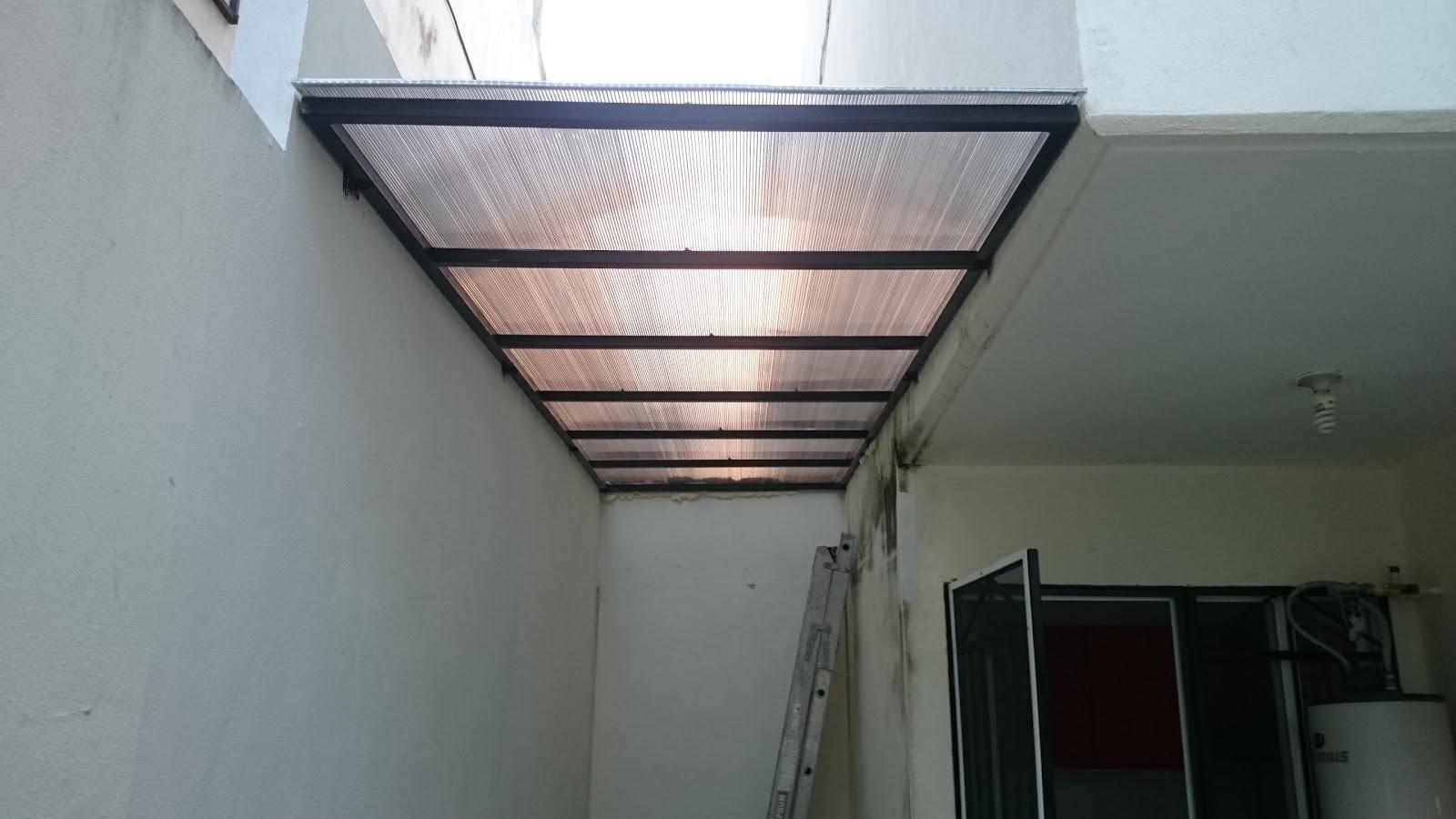 Mr repara cubierta con estructura de metal y lamina de - Lamina de policarbonato ...