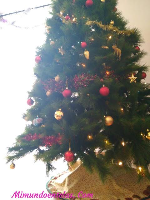 Como hacer facil una manta para el árbol de navidad