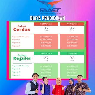 Biaya Pendidikan Sekolah Penerbangan Kampus FAAST Jakarta Jogja Makassar