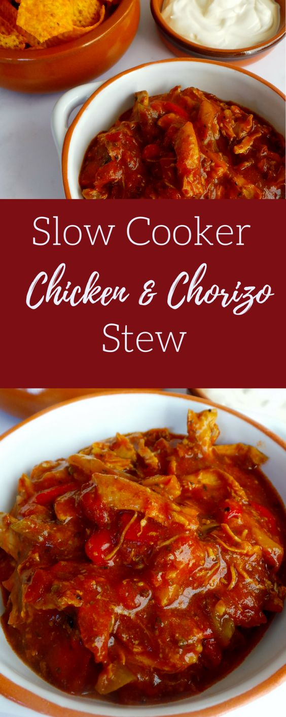 Slow Cooker Chicken & Chorizo Stew