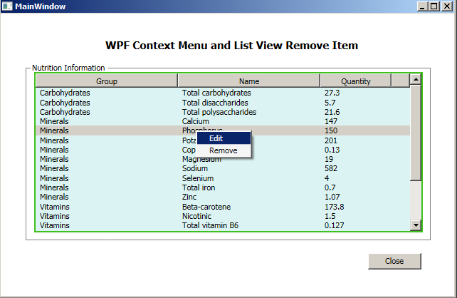 Powered by Passion: WPF Contextmenu For ListView item