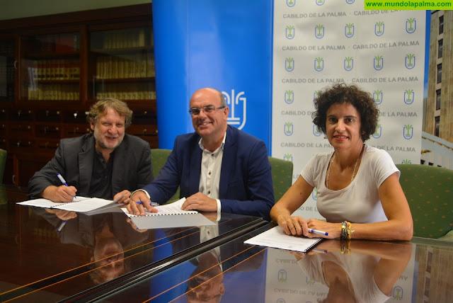Cabildo y ECCA renuevan su compromiso de apoyo a las familias de La Palma