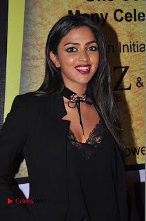 Actress Amala Paul Stills in Black Dress at South Scope Lifestyle Awards 2016 Red Carpet  0022.JPG
