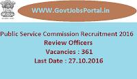 Public Service Commission Recruitment 2016