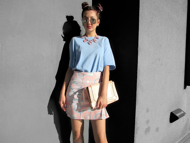 pink blue outfit ideas
