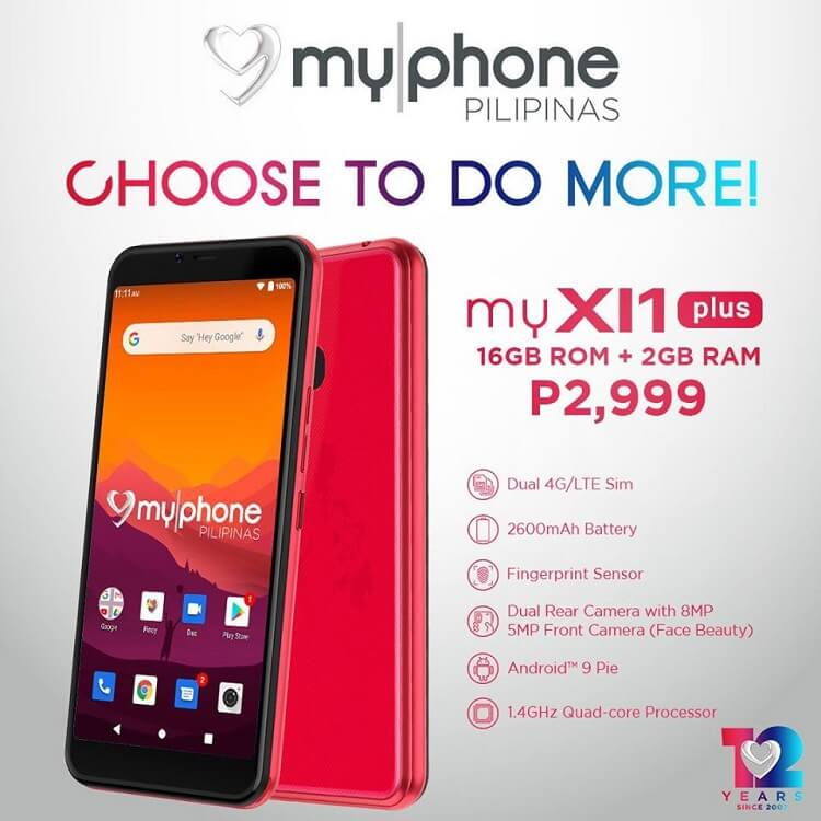MyPhone myXI1 Plus Now Official for only Php2,999!