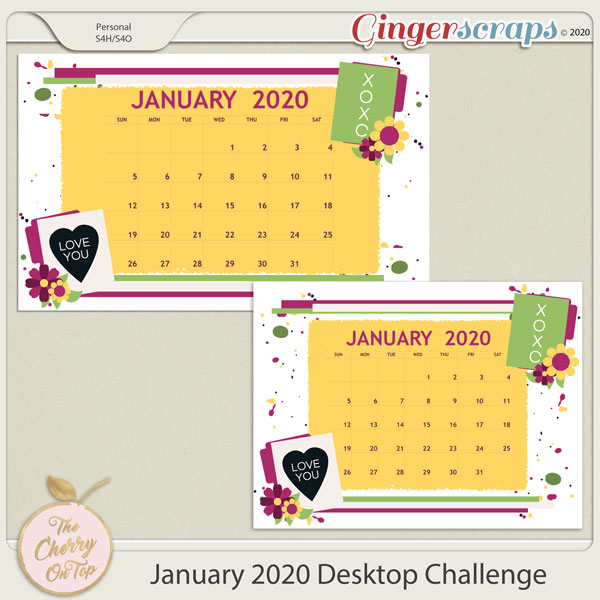 Desk Top challenge with free template