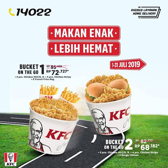#KFC - #Promo Makan Enak Lebih Hemat Beli KFC Bucket On The Go (s.d 31 Juli 2019)