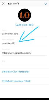 Cara Mengganti Username Instagram Di Android