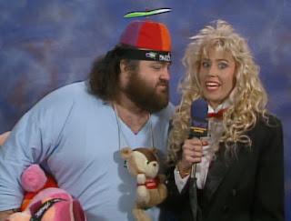 WCW Wrestlewar 1990 - Missy Hyatt recalls in horror as Norman goes in for a kiss