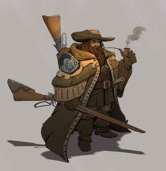 The Gnomish Embassy: 5e: Ranulph Thundermugg - Dwarf Gunslinger