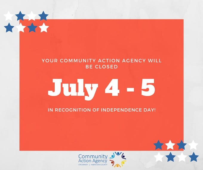 CAA Closed July 4-5, 2019 for Independence Day Long Weekend