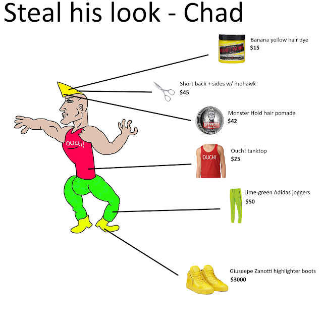 Steal his look - Chad Thundercock edition. StrengthFighter.com