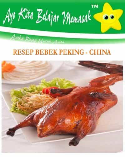 Resep Bebek Peking Khas China Kulit Mengkilap