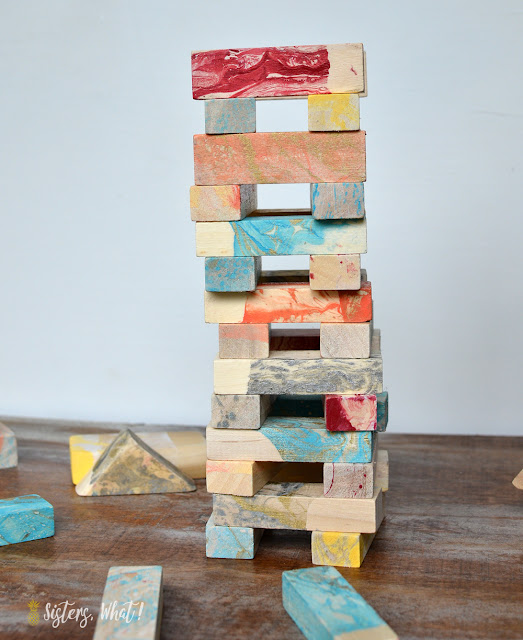 painted jenga blocks