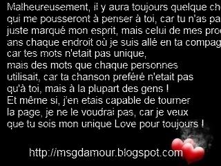 SMS d'amour free: phrase d'amour - déclaration d'amour