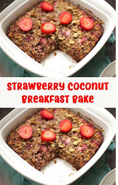 Strawberry Coconut Breakfast Bake