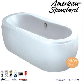 Harga Bathtub Berbagai Merek dan Model Terbaru 2017  - American Standar Acacia Tub 1,7 m
