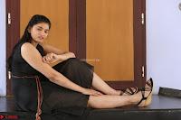 Khanishka new telugu actress in Black Dress Spicy Pics 07.JPG