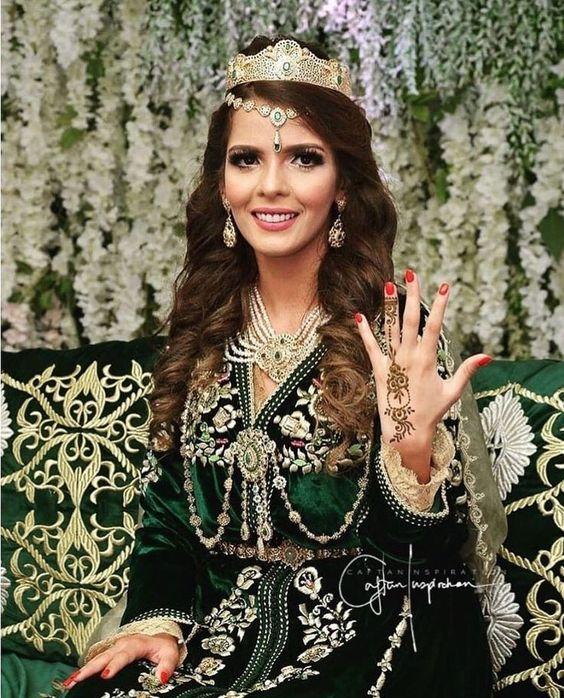 caftan mariage mobra vert france
