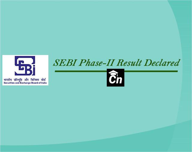 SEBI Phase-2 Result Declared, SEBI Logo, Careerneeti Logo