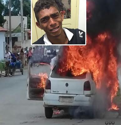 Homem toca fogo em casa e carro pensando ter acertado na mega