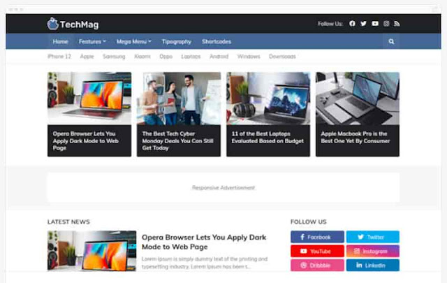 TechMag - Professional Adsense and SEO Blogger Template
