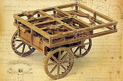 reinterpretação moderna do automóvel de Leonardo da Vinci - a modern reinterpretation of Leonardo da Vinci's automobile