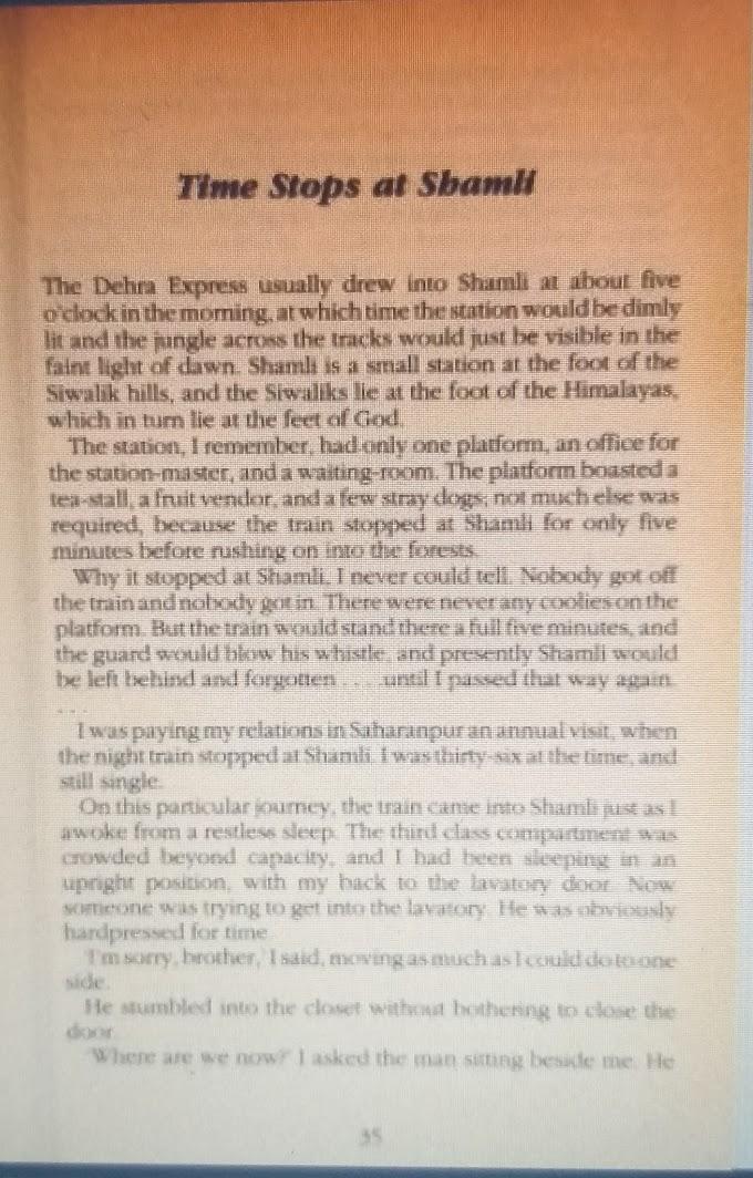 What Ruskin Bond Wrote About Shamli?