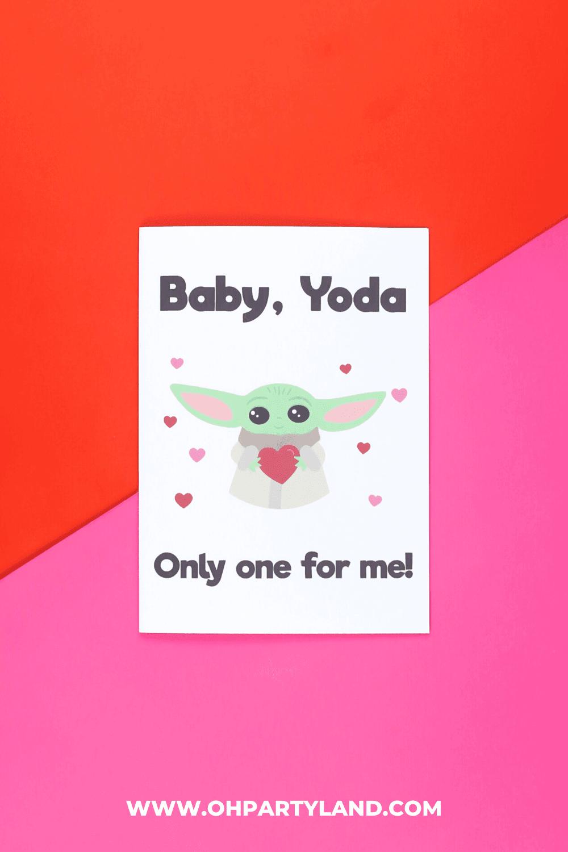 baby yoda valentine card