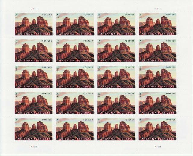 Arizona Statehood Stamp Sheet