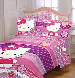 Gambar Sprei Motif Hello Kitty yang Lucu 11