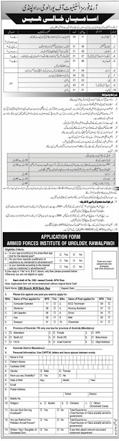 Armed Forces Institute Of Urology (AFIU) Jobs 2021 – Jobs in Pakistan 2021 Latest Jobs in Islamabad