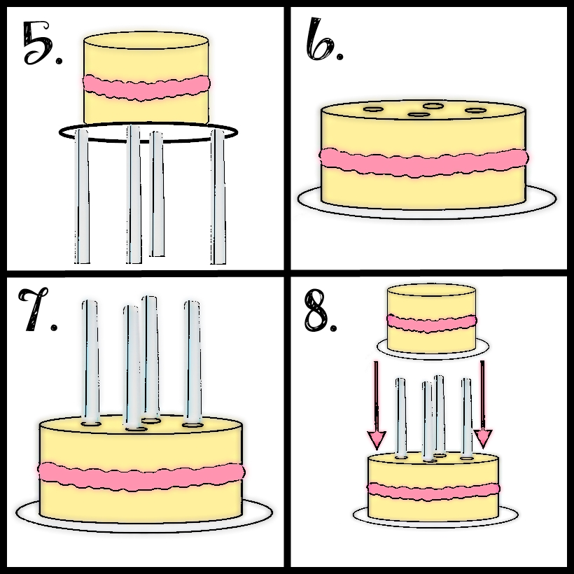 How To Put Dowels In A Two Tier Cake