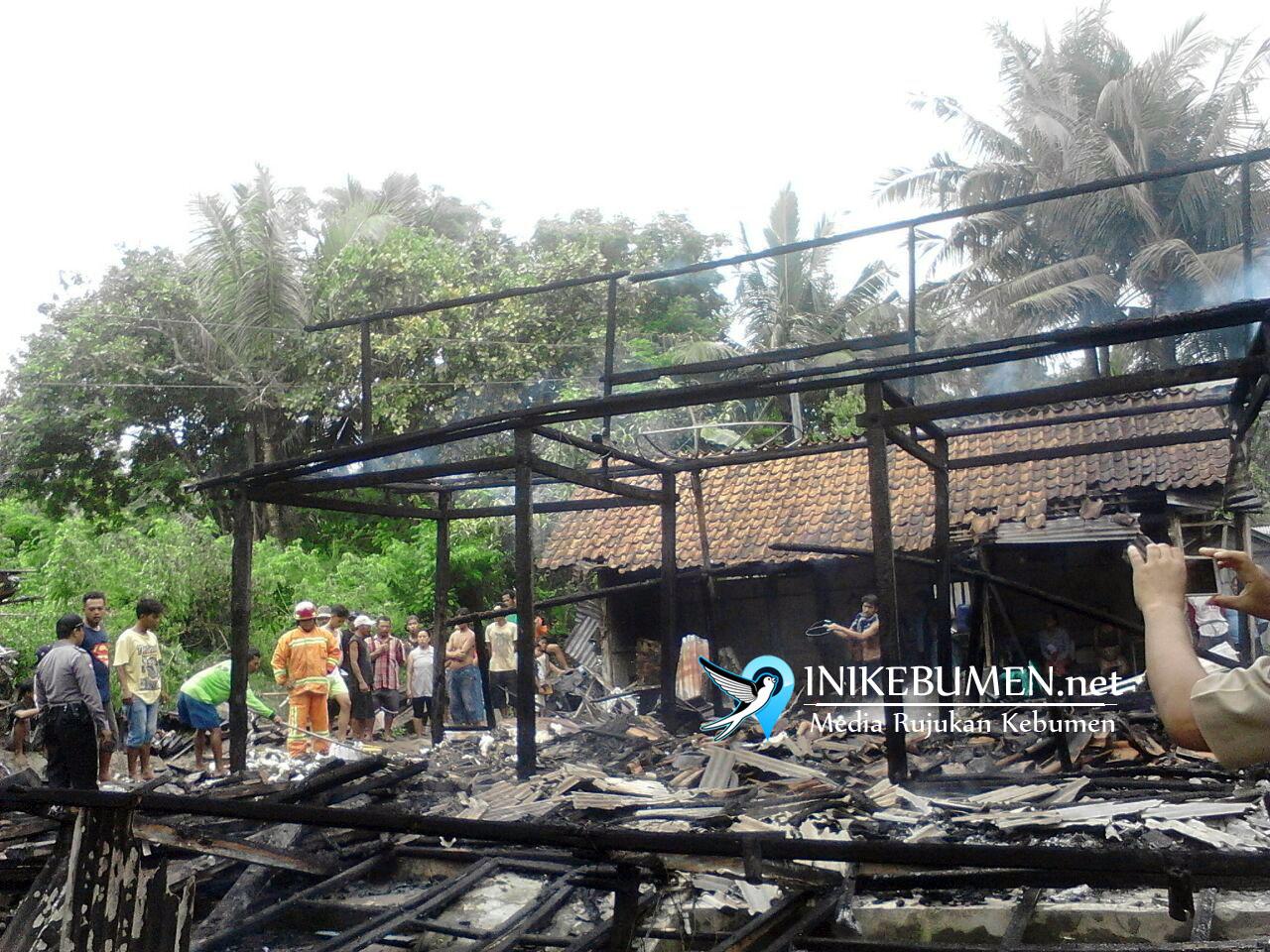 Ditinggal Mencari Rumput, Rumah Nelayan di Petanahan Ludes Terbakar