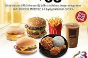 McDonalds Promo Hut BCA 63 Diskon Rp.63.000 Pakai Kartu Kredit BCA Periode 21-22 Februari 2020