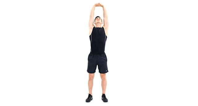 Vertical stretch,peregangan tubuh ke atas