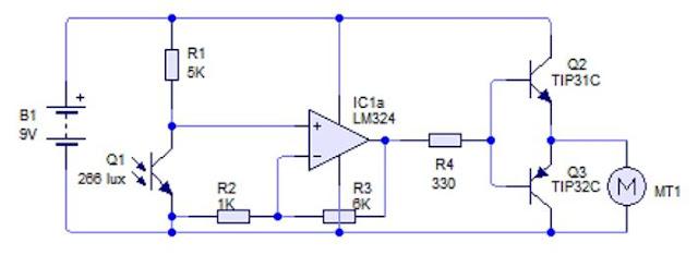 Implementasi Sensor Phototransistor dengan Motor DC