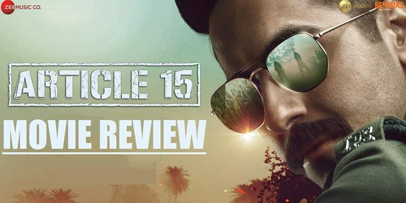 Article 15 Movie Review Poster