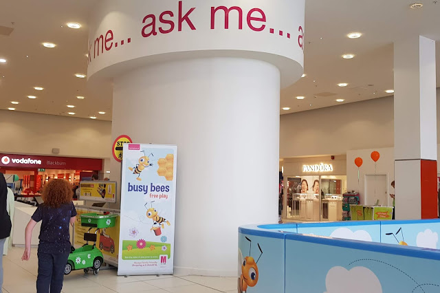 Blackburn Mall Shopping Centre Customer Service Desk is called Ask Me Station and is next to the free Soft Play