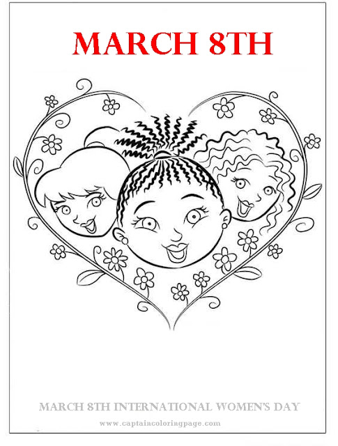 Women's Day coloring