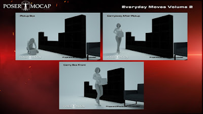 Everyday Moves Volume 2 - Everyday Animations and Aniblocks for Genesis 2 and 3