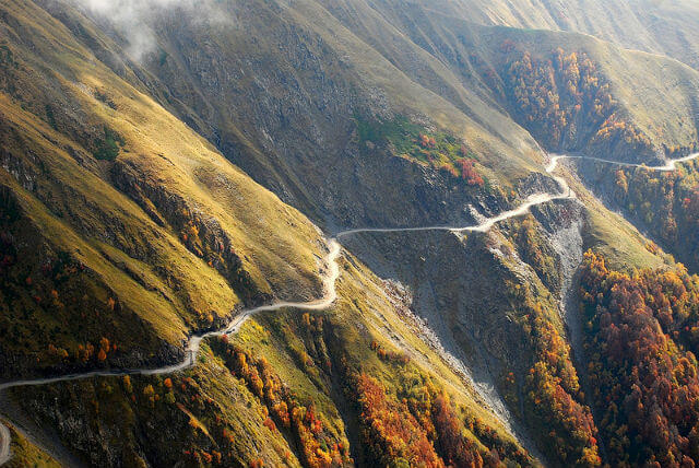The 15 Most Hazardous Roads In The World - Caucasus Road, Russia