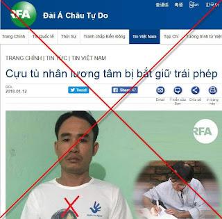 """""""tù nhân lương tâm"""" Đoàn Văn Diên"""