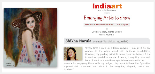 Artist Statement by Shikha Narula - Emerging Artists show by Indiaary.com