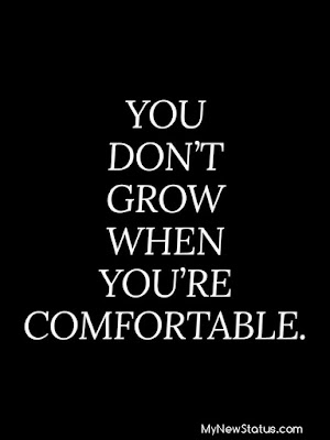 You don;t grow when you're comfortable. #MotivationalQuotes #Quotes #quotesoftheday MyNewStatus.com
