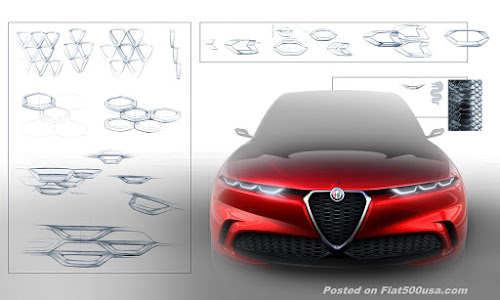 Alfa Tonale Concept Drawing